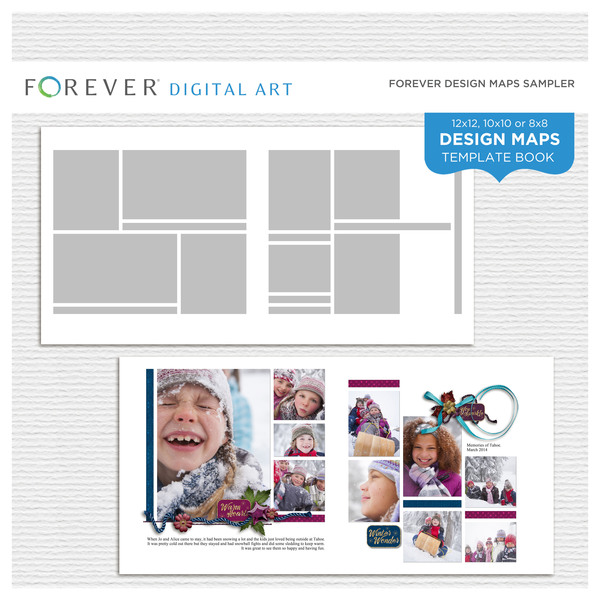 Forever Design Maps Sampler Digital Art - Digital Scrapbooking Kits
