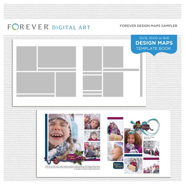 Forever Design Maps Sampler Digital Art - Digital Scrapbooking Kits