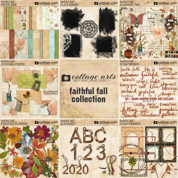 Faithful Fall Collection Digital Art - Digital Scrapbooking Kits