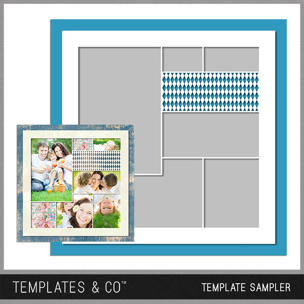 Template Sampler Digital Art - Digital Scrapbooking Kits