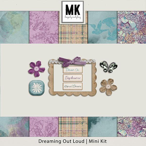 Dreaming Out Loud Sampler Digital Art - Digital Scrapbooking Kits