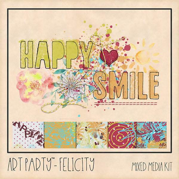 Felicity Mixed Media Sampler Digital Art - Digital Scrapbooking Kits