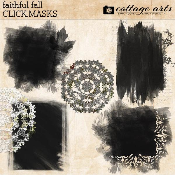 Faithful Fall Click.Masks Digital Art - Digital Scrapbooking Kits