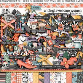 Wicked Awesome Women Digital Art - Digital Scrapbooking Kits