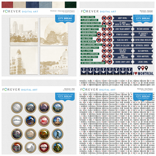 City Break - Montreal - BUNDLE Digital Art - Digital Scrapbooking Kits
