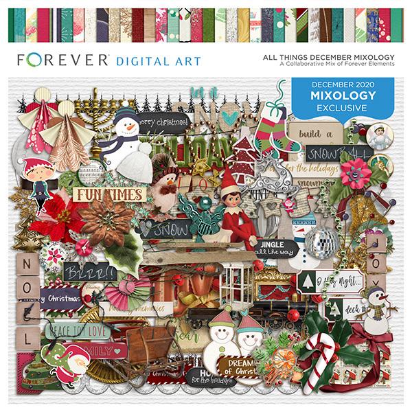 All Things December Mixology Digital Art - Digital Scrapbooking Kits