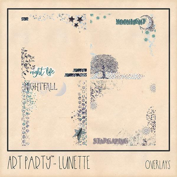 Lunette Overlays Digital Art - Digital Scrapbooking Kits