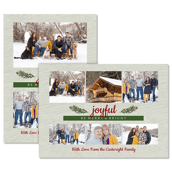 Joyful Merry Bright Card Card