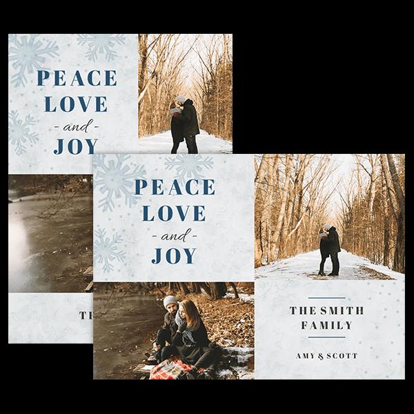 Peace Love Joy Card Card