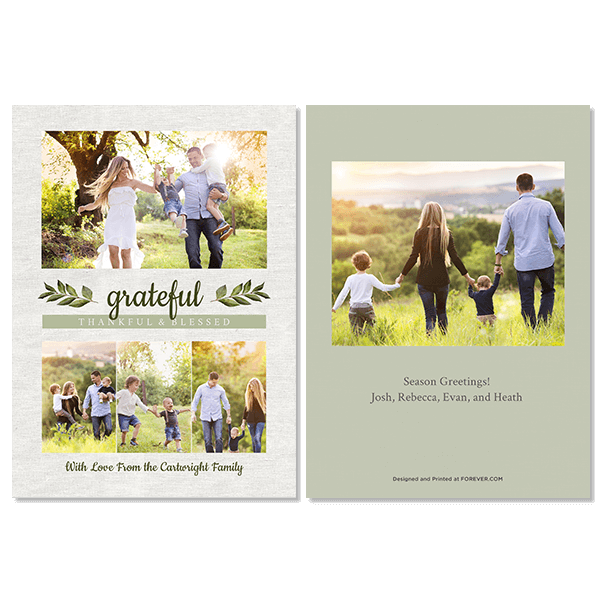 Grateful Thankful Blessed Card
