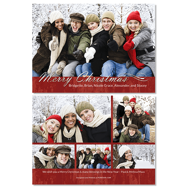 Country Christmas Card Card