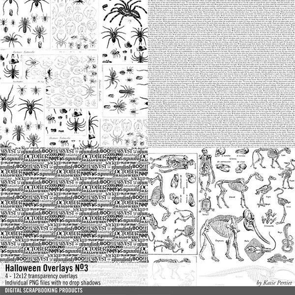 Halloween Overlays 03 Digital Art - Digital Scrapbooking Kits