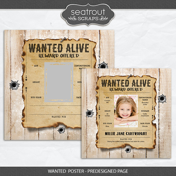 Wanted Poster - Predesigned Page