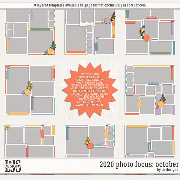 2020 Photo Focus - October Digital Art - Digital Scrapbooking Kits