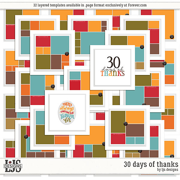 30 Days Of Thanks Digital Art - Digital Scrapbooking Kits