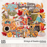 30 Days Of Thanks Stickers