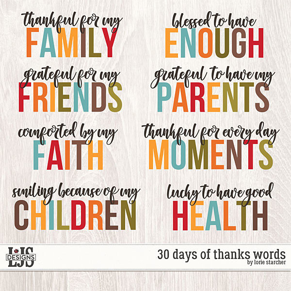 30 Days Of Thanks Words