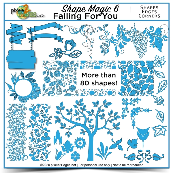 Shape Magic 6 - Falling For You Digital Art - Digital Scrapbooking Kits