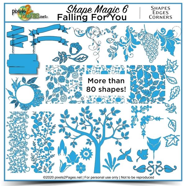 Shape Magic 6 - Falling For You Digital Art - Digital Scrapbooking Kits