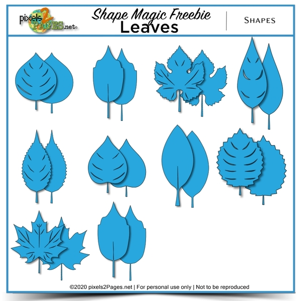Shape Magic Freebie - Leaves