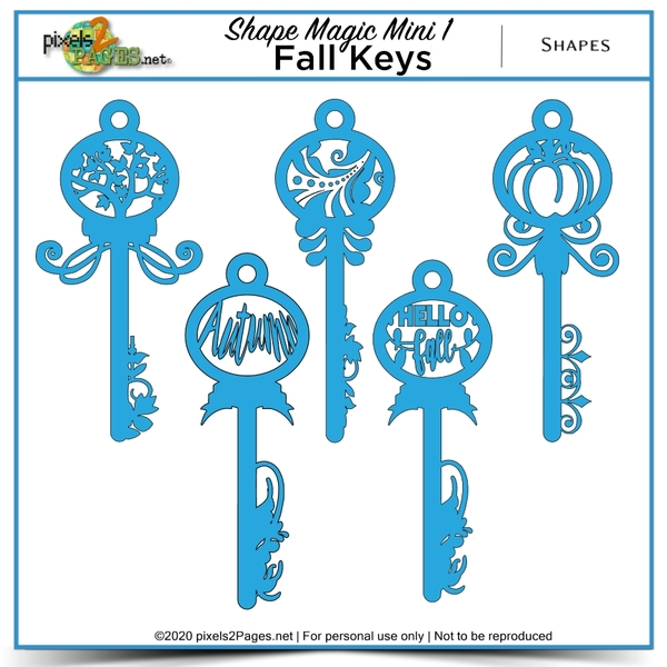 Shape Magic Mini 1 - Fall Keys Digital Art - Digital Scrapbooking Kits