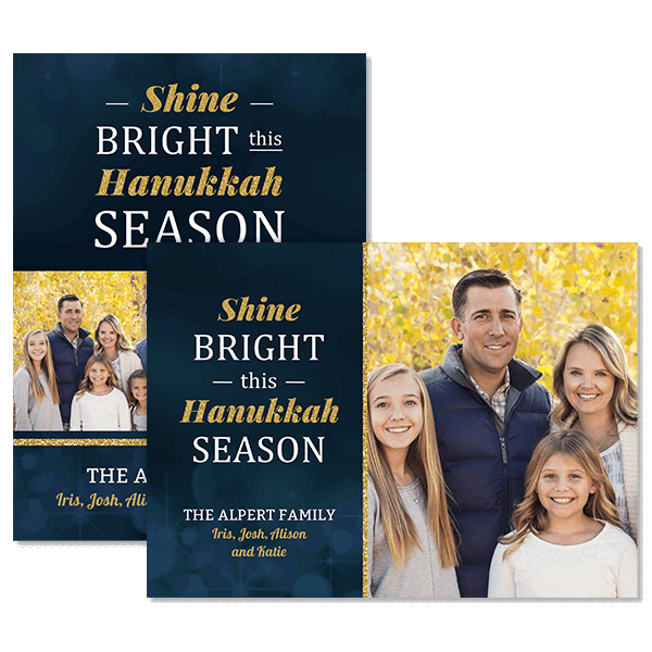 Shine Bright Hanukkah Card Card
