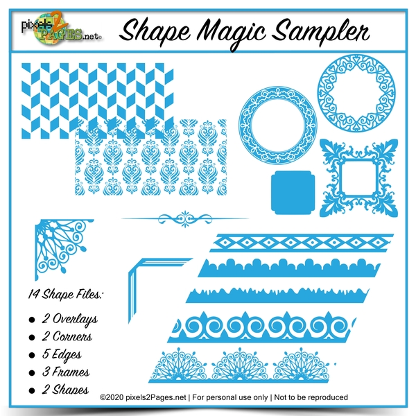 Shape Magic Sampler Kit Digital Art - Digital Scrapbooking Kits