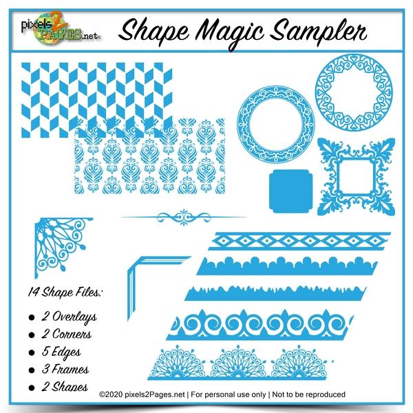 Shape Magic Sampler Kit Digital Art - Digital Scrapbooking Kits