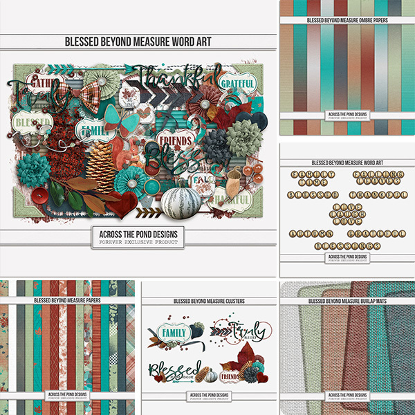 Blessed Beyond Measure Collection Digital Art - Digital Scrapbooking Kits