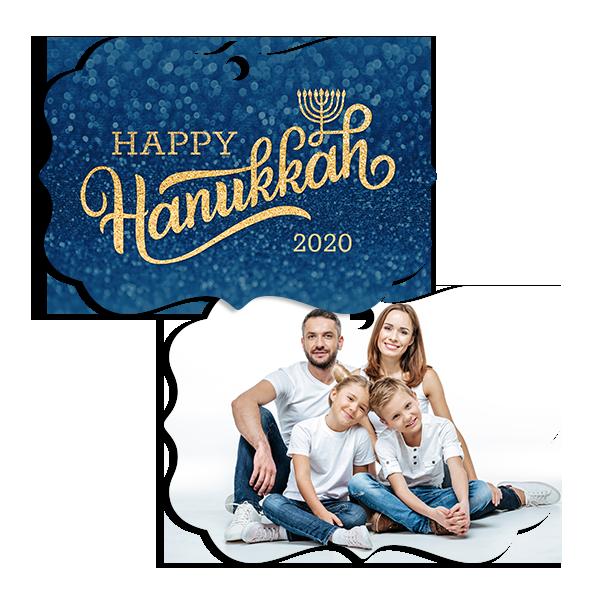 Hanukkah Glitter Ornament