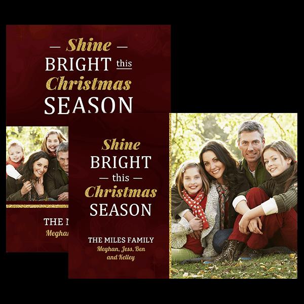 Shine Bright Christmas Card Card