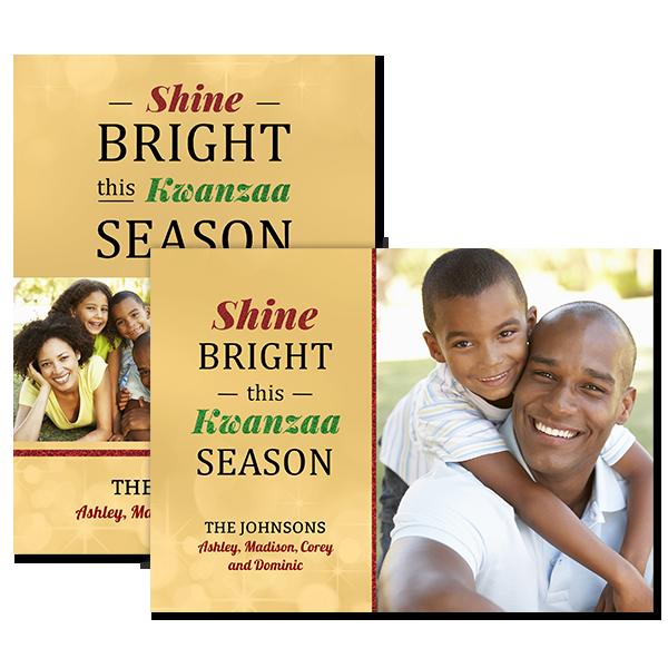 Shine Bright Kwanzaa Card Card
