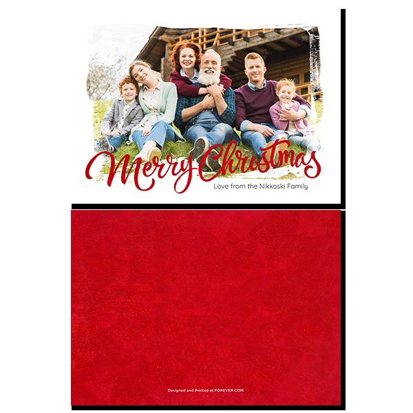Painted Christmas Card Card