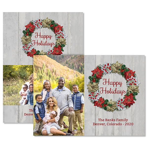 Holiday Wreath Card Card