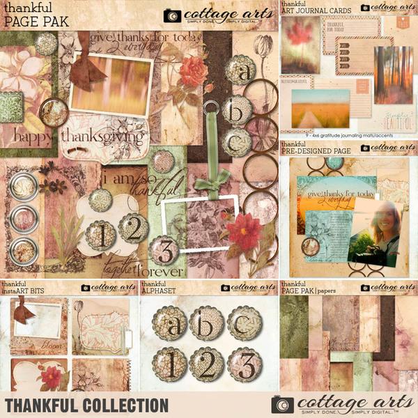 Thankful Collection Digital Art - Digital Scrapbooking Kits