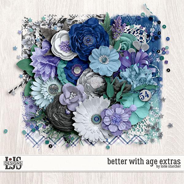 Better With Age Extras Digital Art - Digital Scrapbooking Kits