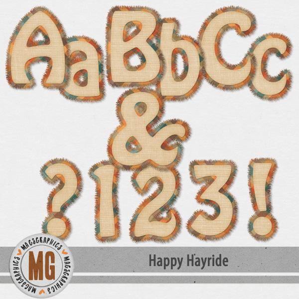 Happy Hayride Alpha Digital Art - Digital Scrapbooking Kits