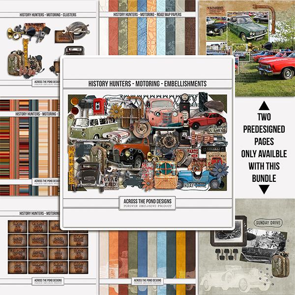 History Hunters - Motoring - Collection Digital Art - Digital Scrapbooking Kits