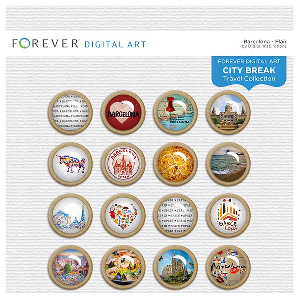 City Break - Barcelona - Flair Digital Art - Digital Scrapbooking Kits