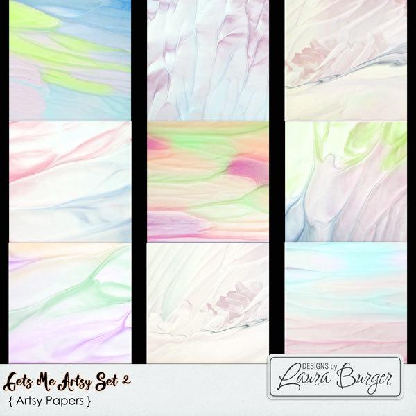 Gets Me Artsy Set 2 Digital Art - Digital Scrapbooking Kits