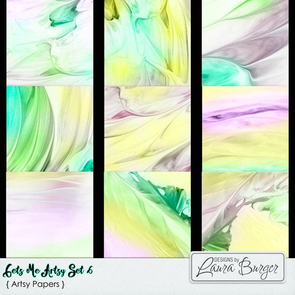 Gets Me Artsy Set 6 Digital Art - Digital Scrapbooking Kits