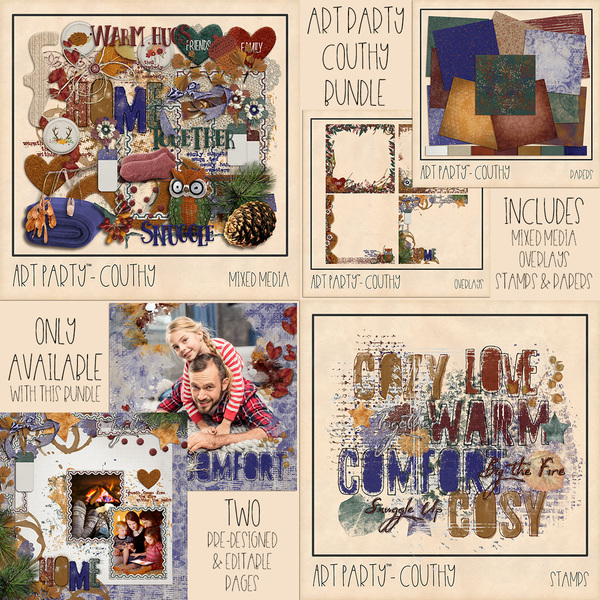 Couthy Complete Collection Digital Art - Digital Scrapbooking Kits