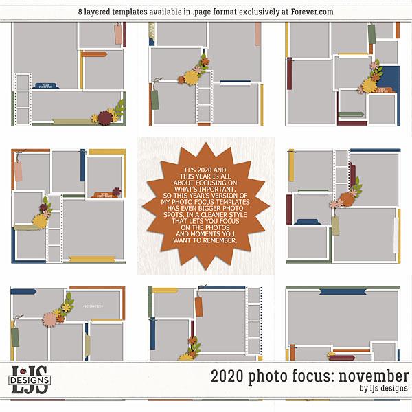 2020 Photo Focus - November Digital Art - Digital Scrapbooking Kits