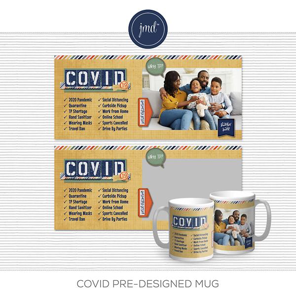 COVID Pre-Designed Mug Digital Art - Digital Scrapbooking Kits
