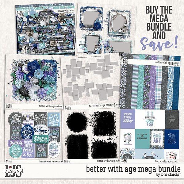 Better With Age Mega Bundle Digital Art - Digital Scrapbooking Kits