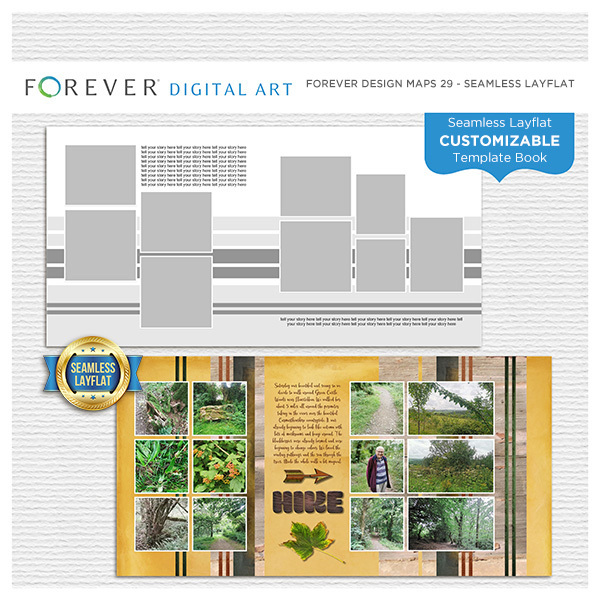 Forever Design Maps 29 - Seamless Layflat Digital Art - Digital Scrapbooking Kits