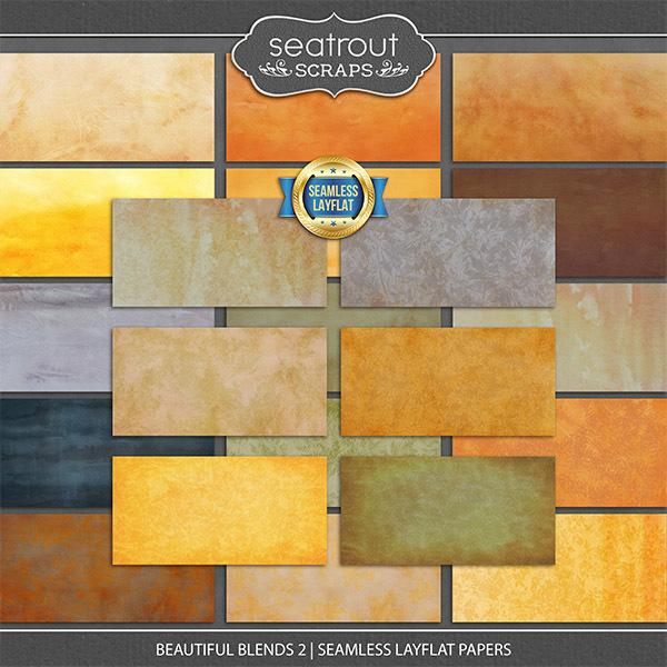 Beautiful Blends 2 - Seamless Layflat Papers