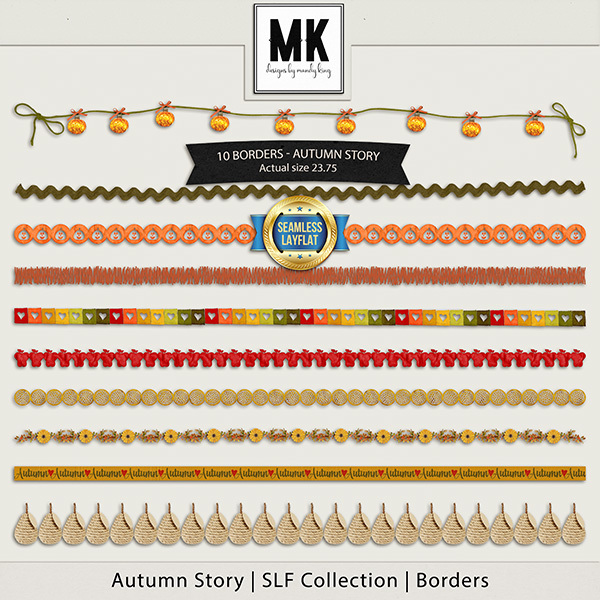 Autumn Story - SLF Collection - Borders Digital Art - Digital Scrapbooking Kits