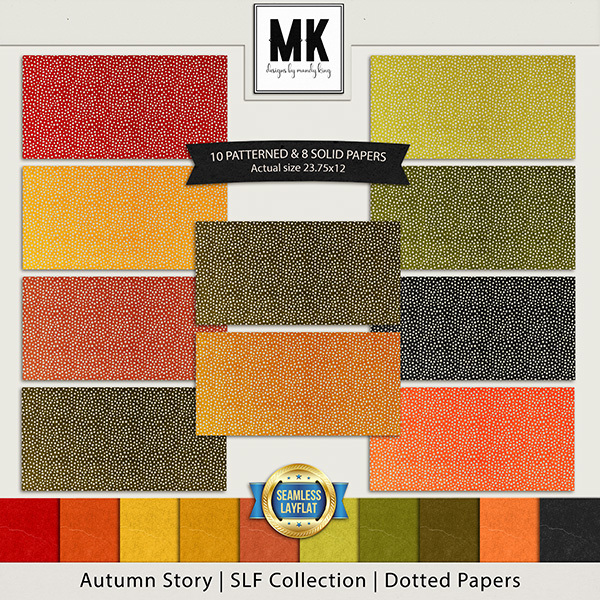 Autumn Story - SLF Collection - Dotted Papers Digital Art - Digital Scrapbooking Kits