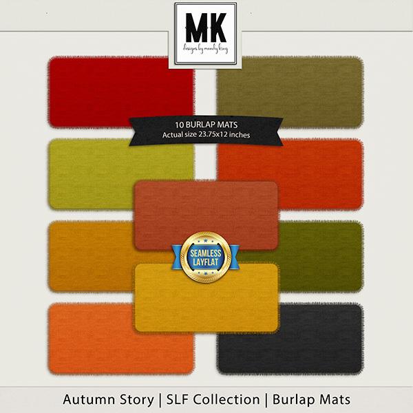 Autumn Story - SLF Collection - Burlap Mats Digital Art - Digital Scrapbooking Kits